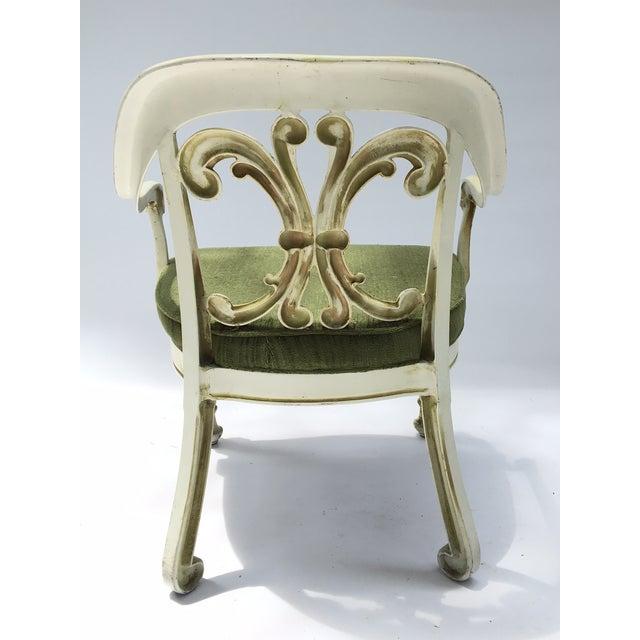 Dorothy Draper Kessler Cast Aluminum Patio Dining Chairs - Set of 5 - Image 5 of 8
