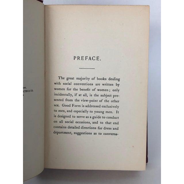 Burgundy Antique Victorian Etiquette Book for Men For Sale - Image 8 of 13