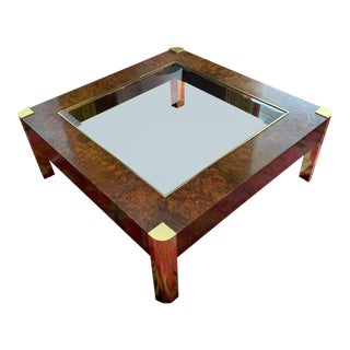 Art Deco Coffee Table With Gold Accents For Sale