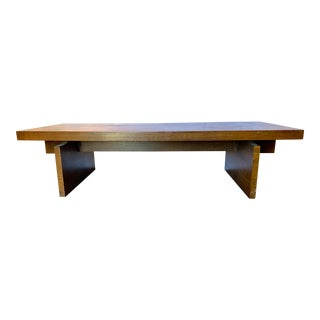 1960s Brutalist Lane Trestle Coffee Table For Sale