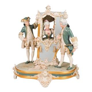 Mid 20th Century Royal Dux Porcelain Figural Group For Sale