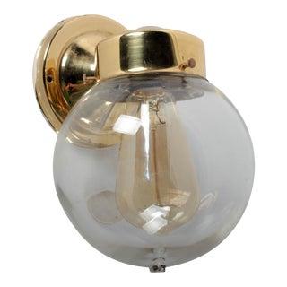 Brass Kitchler Globe Sconce