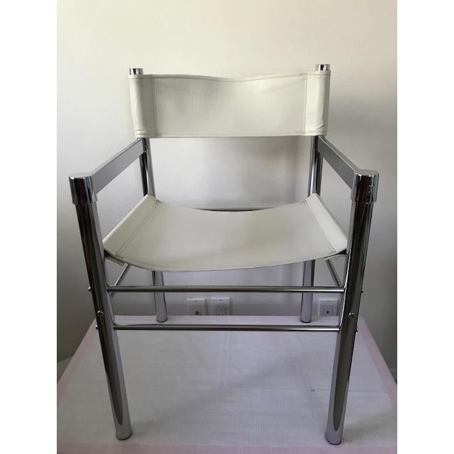1970s 1970's Mod Chrome and Pleather Chairs - Set of 4 For Sale - Image 5 of 10