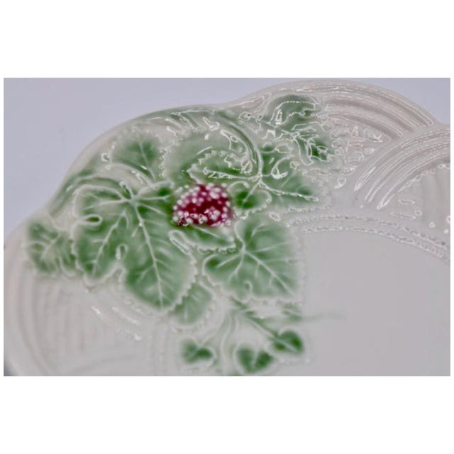 Vintage Italian Ceramic Strawberry Plate For Sale - Image 4 of 7