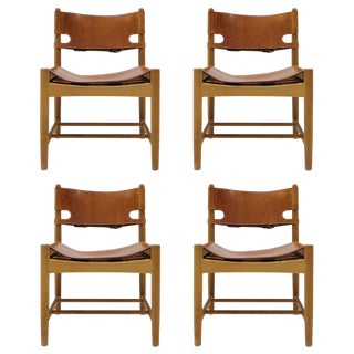 "1960s Vintage Børge Mogensen ""Hunting"" Chairs- Set of 4 For Sale"