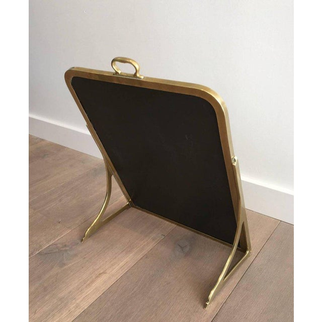 Brass Brass Dressing Mirror Made for Shoes For Sale - Image 7 of 11