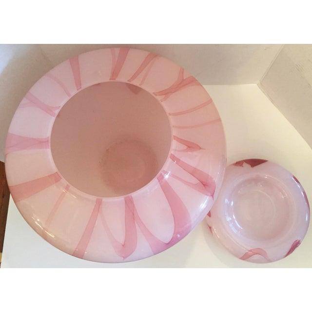 Murano Large Pink Lidded Vase - Image 6 of 6