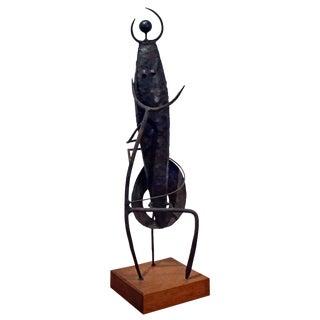 Modernist Welded Steel Sculpture by Charles Luedtke For Sale