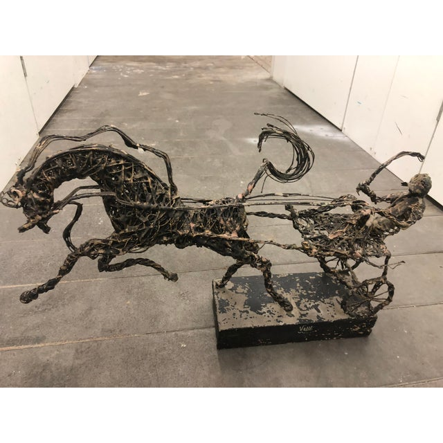 1950s 1950s Vintage Paco Valle Wire Coated Horse Sculpture For Sale - Image 5 of 5