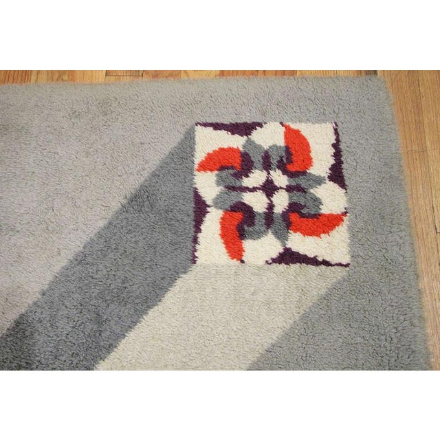 Mid 20th Century Vintage French Art Deco Carpet by Pierre Cardin - 6′9″ × 9′2″ For Sale - Image 5 of 10