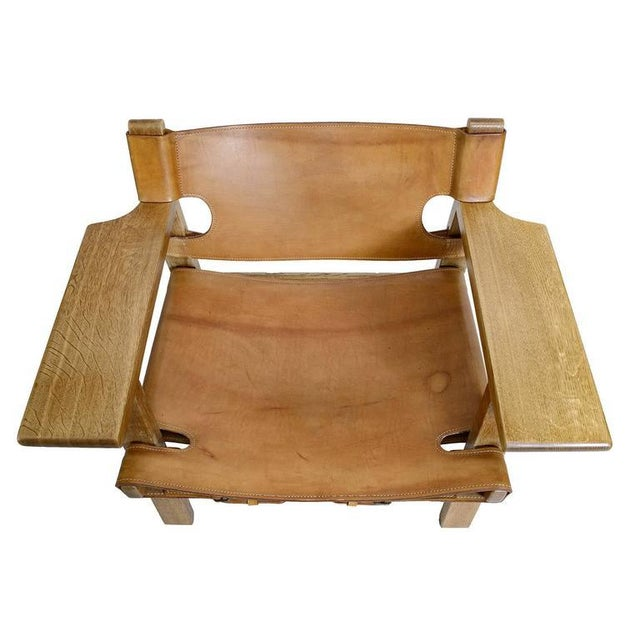 """Wood Børge Mogensen """"Spanish"""" Chair For Sale - Image 7 of 10"""