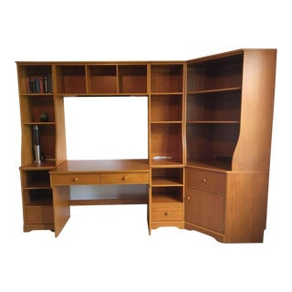 Vintage Pottery Barn Kid's Bedroom Wall Unit For Sale