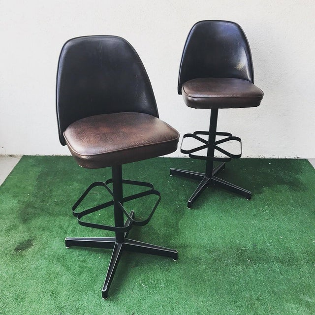 Mid-Century Virtue of California Bar & Stools For Sale In Los Angeles - Image 6 of 8