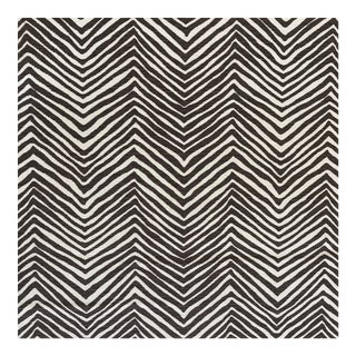 China Seas Brown Petite Zig Zag Fabric- 6 Yards For Sale