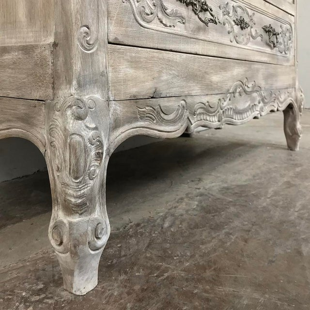 Metal 19th Century Country French Whitewashed Commode For Sale - Image 7 of 13