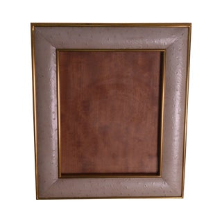 Maitland Smith Ostrich Leather and Brass Picture Frame For Sale