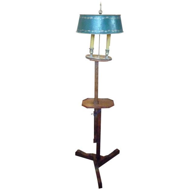 19th Century Adjustable Wooden Floor Lamp For Sale