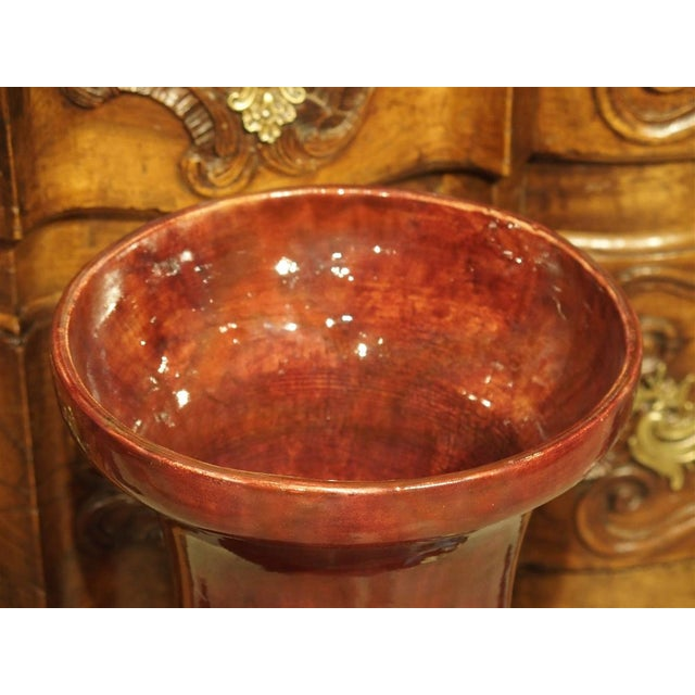 Late 19th Century Grand Antique French Barbotine Vase, Parisian School Late 1800s For Sale - Image 5 of 12
