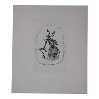 Vintage Lithograph By Georges Braque For Sale