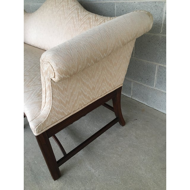 19th Century Antique Chippendale Style 8 Leg Camel Back Serpentine Front Settees - A Pair For Sale In Philadelphia - Image 6 of 13
