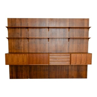 Large Mid-Century Design Teakwood Cadovius Wall Unit, Denmark, 1960s For Sale