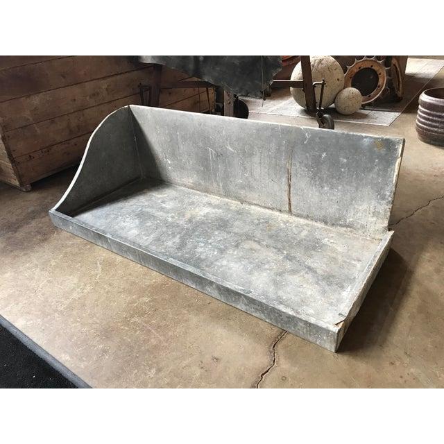 French 1950s French Zinc Basin For Sale - Image 3 of 4