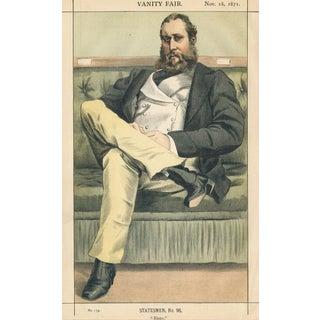 "1871 ""Lionel Dawson-Damer"" Vanity Fair Portrait Lithograph Print For Sale"