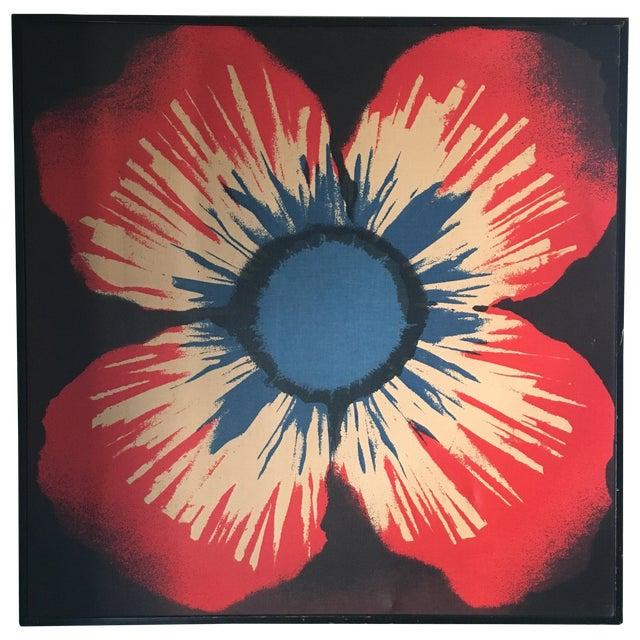 Original Tom Tru Vintage Poppy Sreen Print For Sale