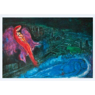 """1993 Marc Chagall """"The Seine Bridges"""", First Edition Poster For Sale"""