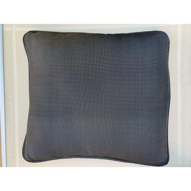 Mid-Century Modern Custom Made Robert Allen Fabric Decorative Pillows - Set of 4 For Sale - Image 3 of 6
