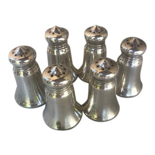 Revere Vintage Sterling Silver Salt and Pepper Shakers - Set of 6 For Sale