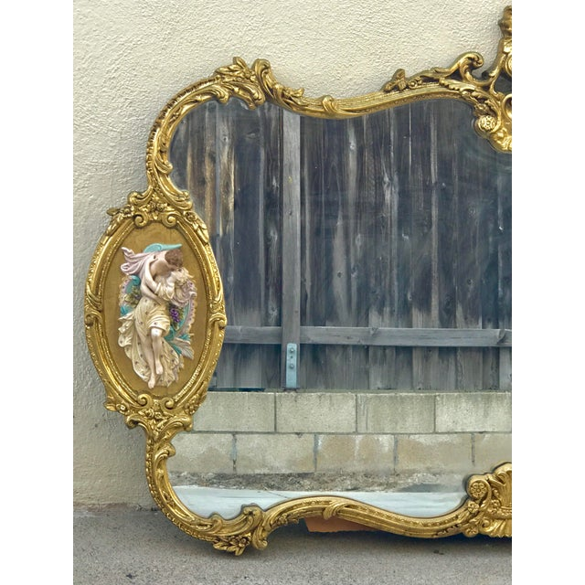Antique Italian Rococo Gold Gilded Mirror - Image 2 of 10