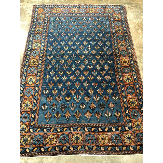 1900s Antique Yerevan Rug with Modern Tribal Style, Antique Russian Armenian Rug For Sale - Image 5 of 10