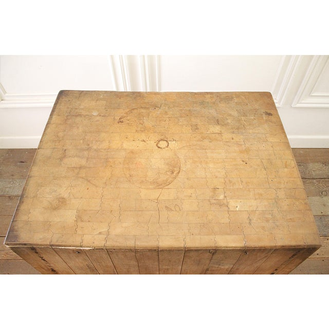 Mid 20th Century 20th Century French European Butcher Block Table For Sale - Image 5 of 10
