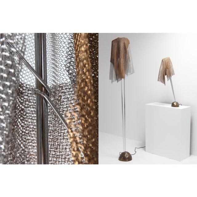 """Artemide Chain Mail Table Lamp """"Anchise"""" by Toni Cordero For Sale - Image 9 of 10"""