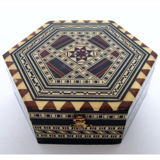 Boho Chic Inlay Wood Box - Image 2 of 8