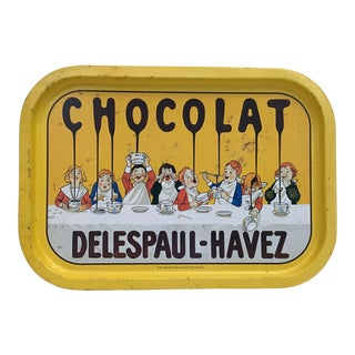 """Vintage French Reproduction """"Chocolat"""" Tray For Sale"""