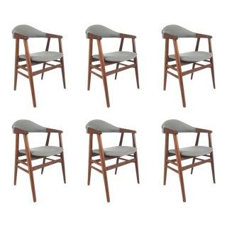 Vintage Danish Walnut Dining Chairs - Set of 6