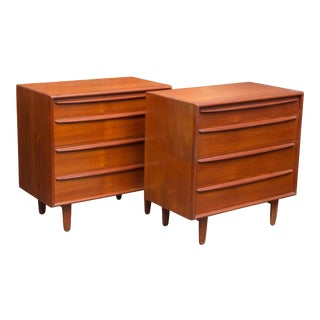 Pair of Danish Teak Chests For Sale