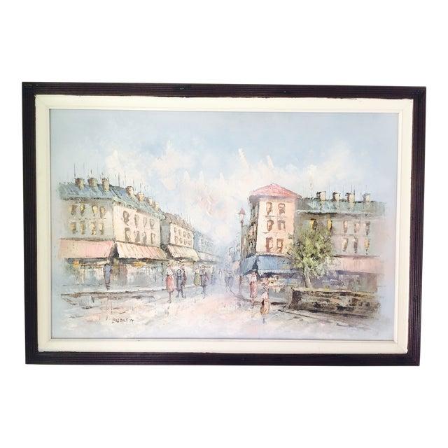 Caroline Burnett Street of Paris Oil Painting - Image 1 of 7