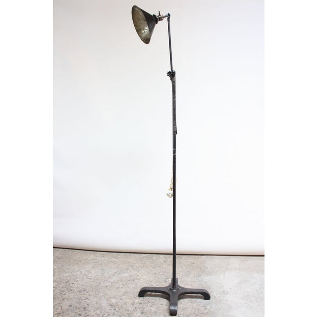 Industrial Vintage Industrial Articulating Floor Lamp by o.c. White For Sale - Image 3 of 13