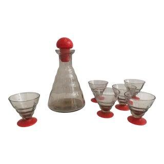 Murano Glass Cordial Set For Sale