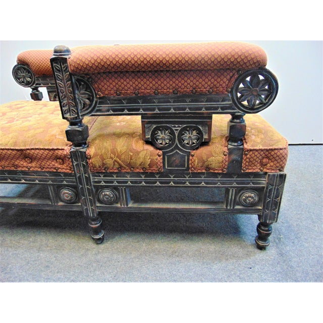 Victorian Eastlake Style Tete A' Tete Settee For Sale In Philadelphia - Image 6 of 9
