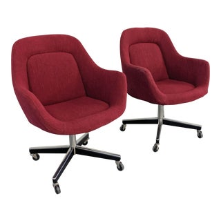 1980s Vintage Max Pearson for Knoll Executive Chairs - a Pair For Sale