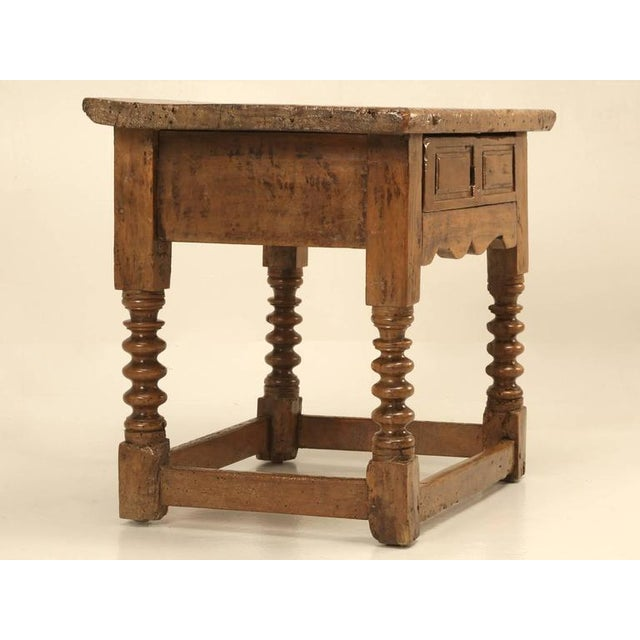 Antique Spanish Walnut End Table - Image 2 of 10