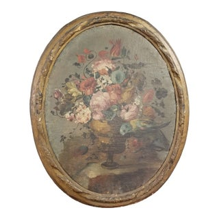 18th Century Italian Floral Painting For Sale