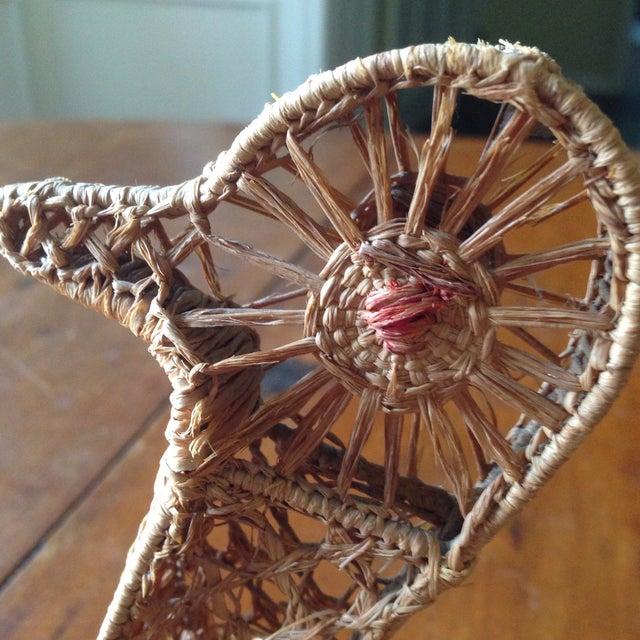 Vintage Italian Straw/Wicker Duck Basket - Image 7 of 11