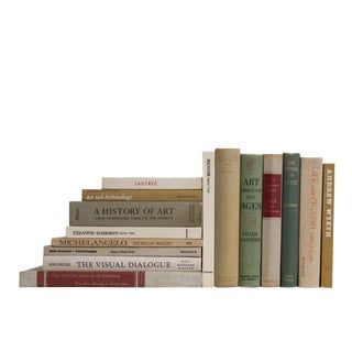 Olive and Neutral Art Appreciation : Set of Fifteen Decorative Books For Sale