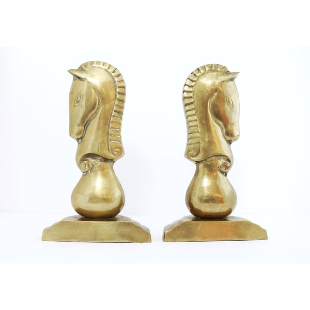 This listing is for a set of brass bookends. Place these whimsical pieces in any room for added vintage character to your...