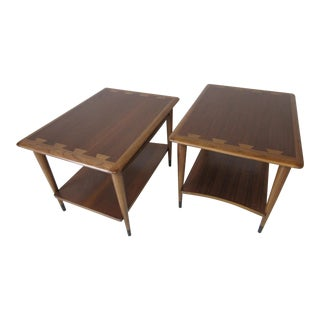 Lane Acclaim Walnut End Tables by Andre Bus - a Pair For Sale